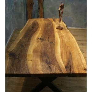 Wooden Table Solid Walnut Tree - 0053