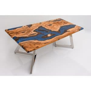 Epoxy Table Blue Natural Design - 1455