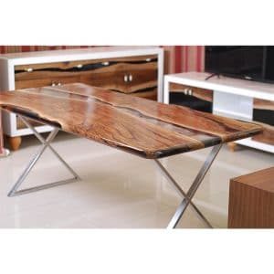 Epoxy Table Transparent Design - 1005