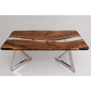 Epoxy Table Natural Transparent Design - 1451