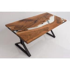 Epoxy Table Naturan Transparent Design - 1453