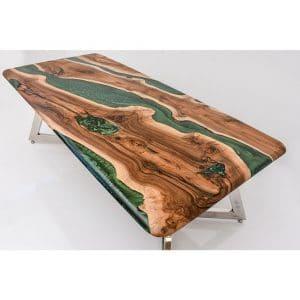 Epoxy Table Natural Green Design - 1450