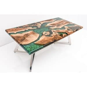 Epoxy Table Natural Green Design - 1456