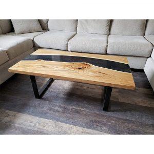Epoxy Coffee Table Black Design - 1023
