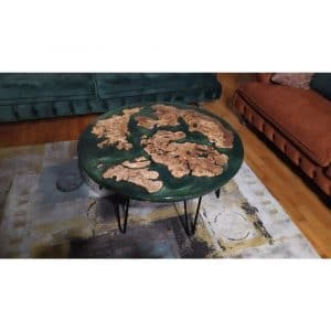 Epoxy Middle Table Green Design - 1021