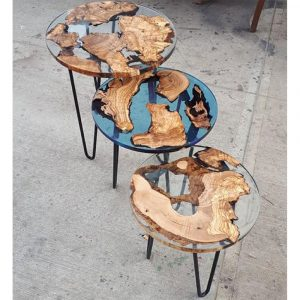 Epoxy Coffee Table Transparent Design - 1031