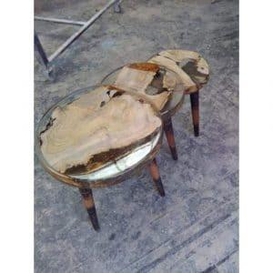 Epoxy Coffee Table Natural Design - 1033
