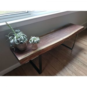 Wood Bench Walnut Wood - 5005